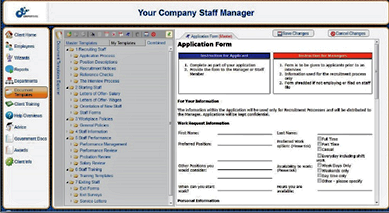 HR Staff Manager Document Management